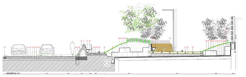 Sección constructiva Side Bench